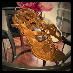 Venus Gold Detailed Cage Sandals BNWB 6